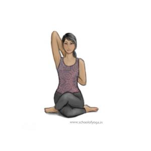 4 asana 26 gomukhasana anu  school of yoga